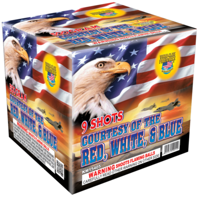 Multi Shot 500-gram Courtesy Red White Blue